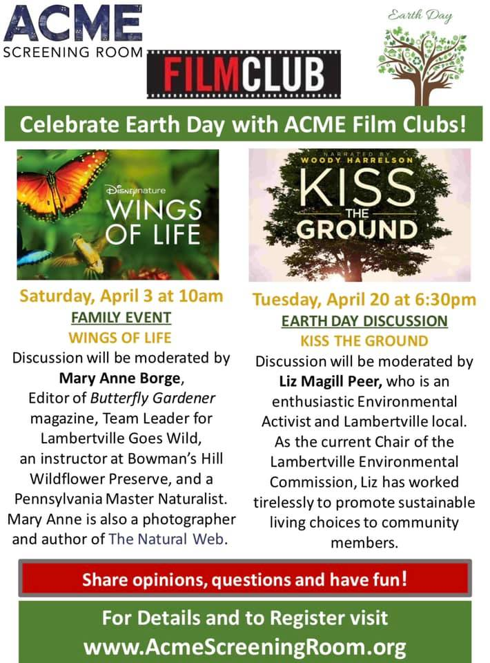 Acme Flim Club Earth Day Flyer